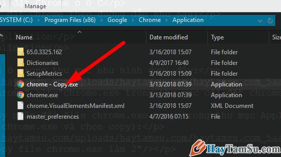 file chrome mới