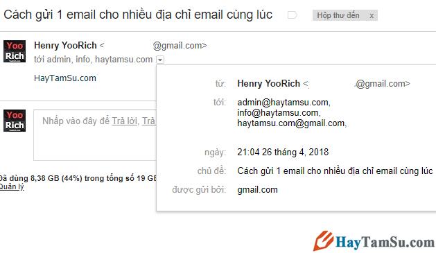 Cách gửi thư email cho nhiều người cùng một thời điểm + Hình 3