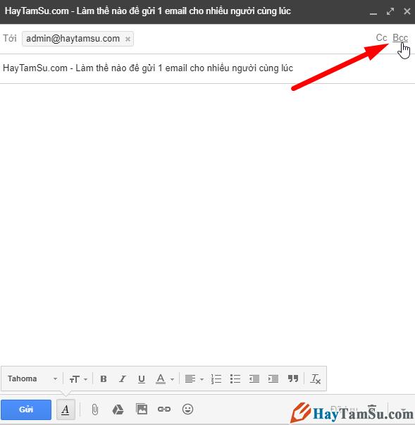 Cách gửi thư email cho nhiều người cùng một thời điểm + Hình 7