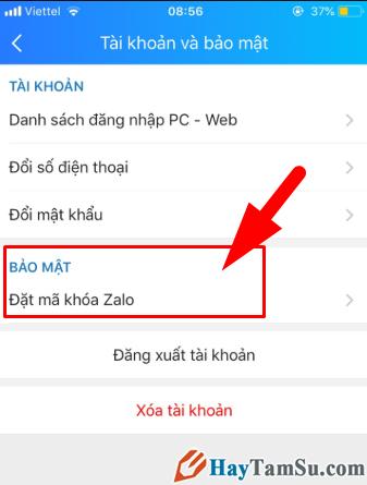 Hướng dẫn đặt mật khẩu cho ứng dụng chat Zalo trên iPhone + Hình 6