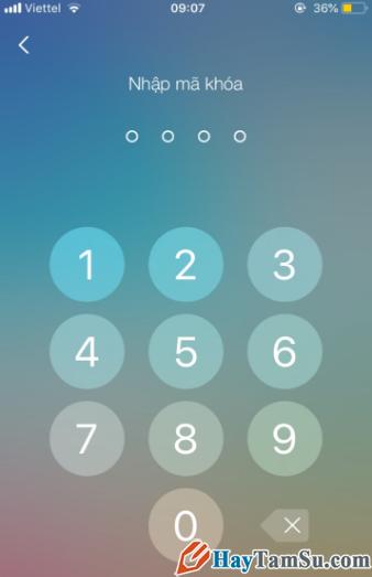 Hướng dẫn đặt mật khẩu cho ứng dụng chat Zalo trên iPhone + Hình 8