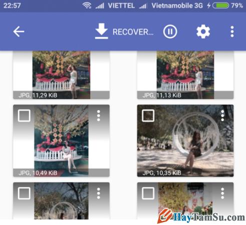 Hướng dẫn lấy lại Ảnh đã xóa trên điện thoại Android với ứng dụng DiskDigger + Hình 6