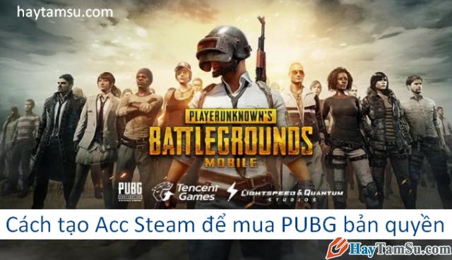 Hướng dẫn đăng ký tài khoản Steam mua game PUBG bản quyền