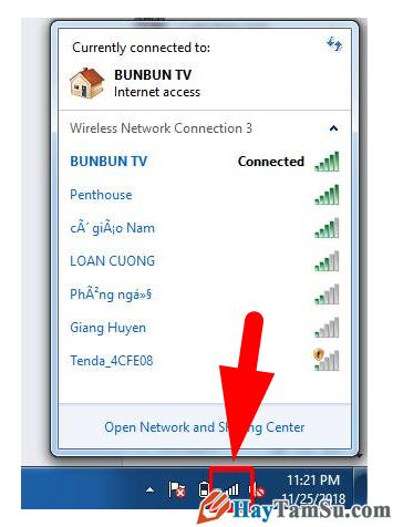 Hướng dẫn cách bật Wifi trên laptop cài hệ điều hành Windows 7 + Hình 6