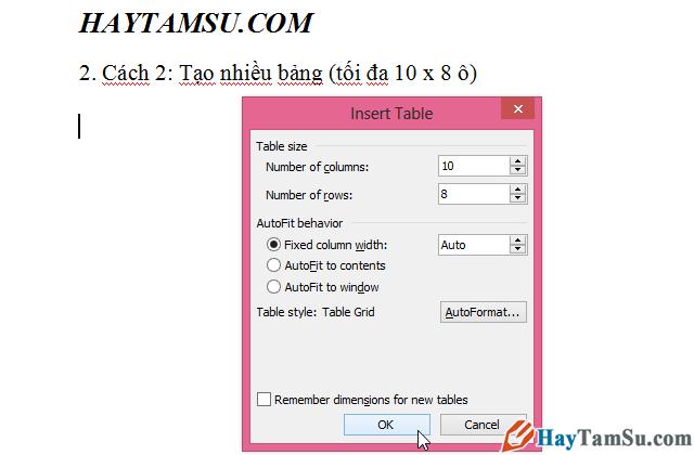 Thủ thuật tạo và tùy biến bảng trong Microsoft Word + Hình 6