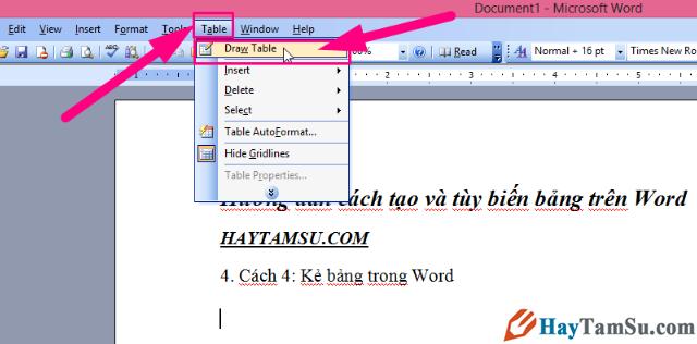 Thủ thuật tạo và tùy biến bảng trong Microsoft Word + Hình 9