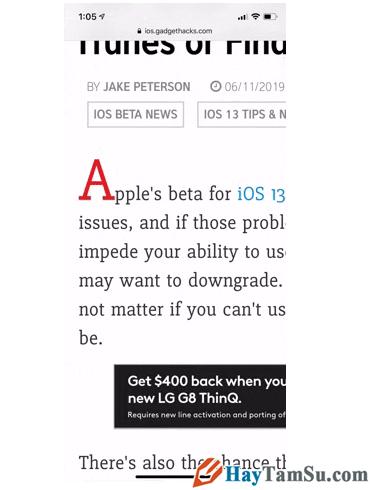 Tăng - Giảm size văn bản cho web Safari trên iOS 13 + Hình 5