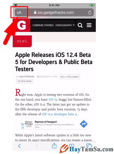 Tăng - Giảm size văn bản cho web Safari trên iOS 13 + Hình 7