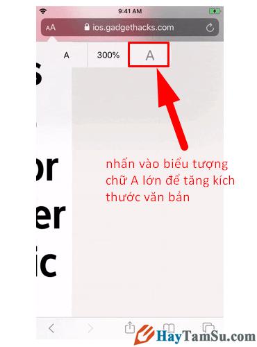 Tăng - Giảm size văn bản cho web Safari trên iOS 13 + Hình 11