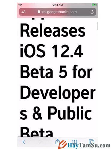 Tăng - Giảm size văn bản cho web Safari trên iOS 13 + Hình 12