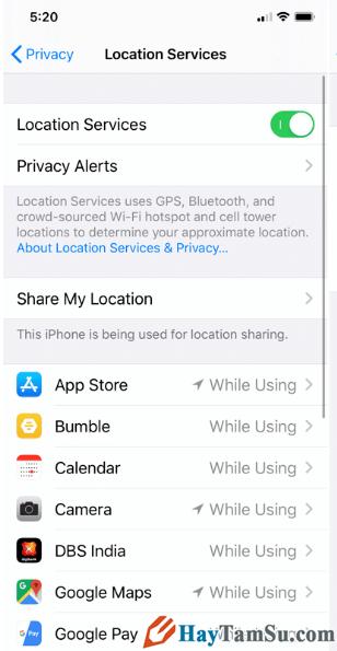 Cách hạn chế ứng dụng truy cập vị trí trên iOS 13 + Hình 17
