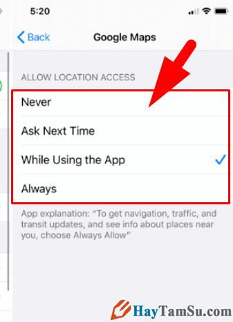 Cách hạn chế ứng dụng truy cập vị trí trên iOS 13 + Hình 18