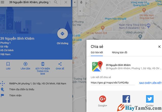 Cách Share bản đồ, vị trí, địa điểm Google Maps với bạn bè + Hình 13
