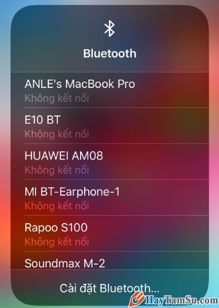 Hướng dẫn cách kết nối Wifi và Bluetooth trên iOS 13 + Hình 15