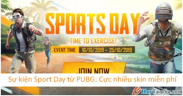Sự kiện Sport Day từ game PUBG: Cực nhiều skin miễn phí