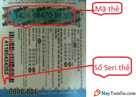 Nạp tiền điện thoại bằng số seri Viettel khi thẻ cào bị mất số + Hình 2