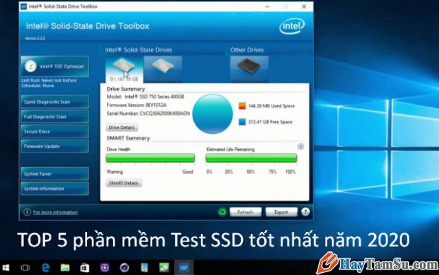 Tổng hợp TOP 5 phần mềm Test SSD tốt nhất năm 2021