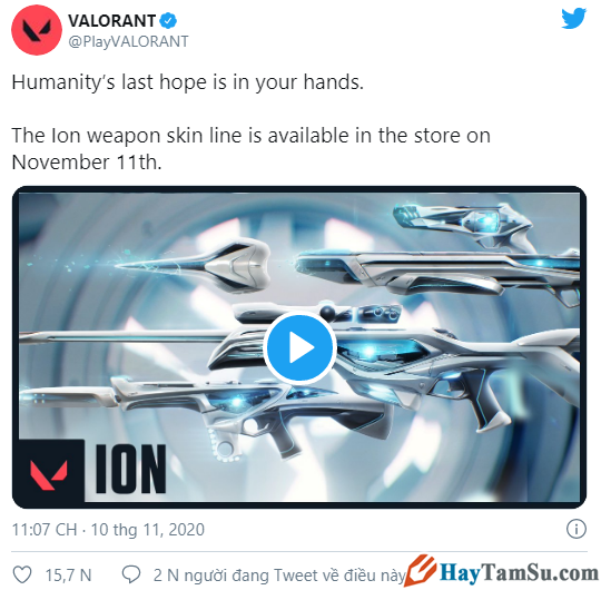Valorant: Cho ra mắt Skin súng mới mang chủ đề ION + Hình 2
